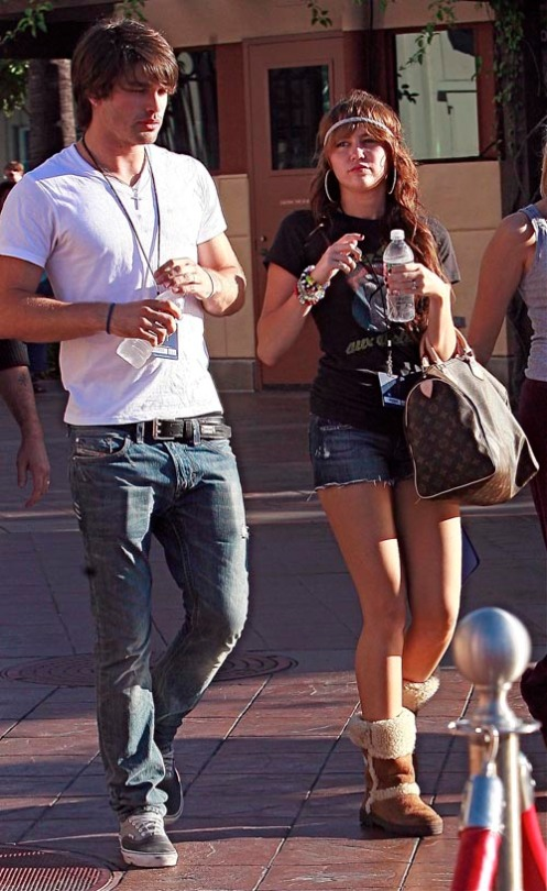 Miley Cyrus And Her Boy Toy Out In Universal City